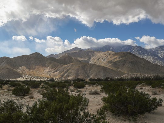 Clouds and windy conditions pass over Mt. San Jacinto