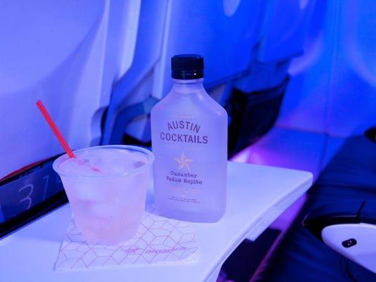A cucumber vodka mojito cocktail