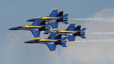 The Blue Angels perform at the 2015 Barksdale air show.