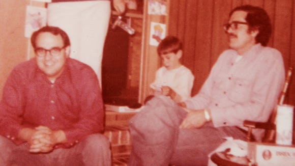 The author's dad (from left), one of his younger brothers and his Uncle David at a family gathering in the 1970s.