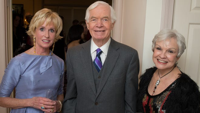 U.S. Sen. Thad Cochran is shown with long-time executive assistant Kay Webber, right, and Institute for Education founder and CEO Kathy Kemper, left, at an IFE event in Washington in December 2013.