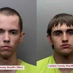 Cody Jones, left, and Bret Royster were arrested Tuesday for allegedly stealing two marijuana plants from Choice Organics in Fort Collins.