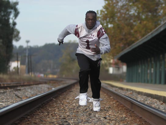 Madison County senior running back Derrick Staten Jr.