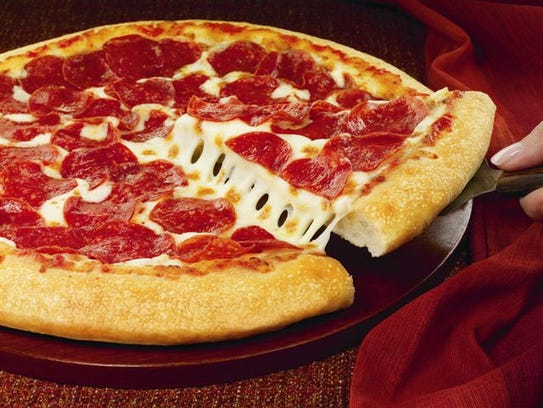 This handout photo provided by Pizza Hut,  shows a