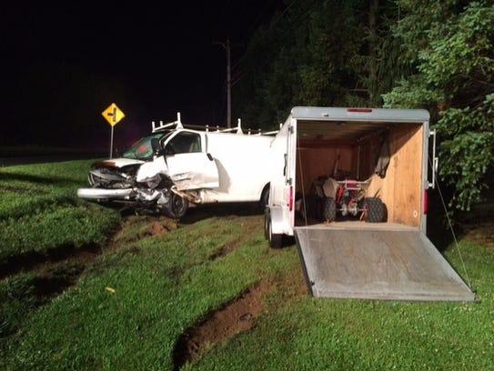 Mark Cassel, 41, Manheim, was driving this work van