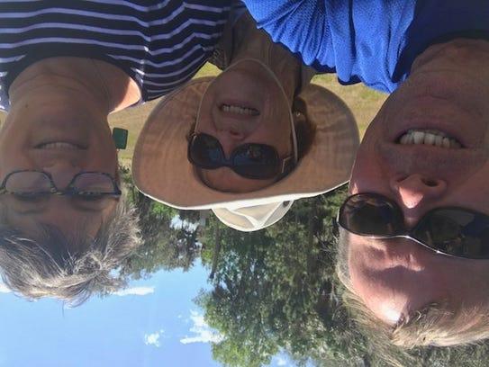 Gregg, Dottie and Morgan take a selfie.