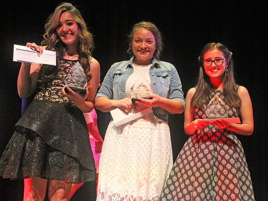Senior Division winners from left to right: Kayla Ledesma