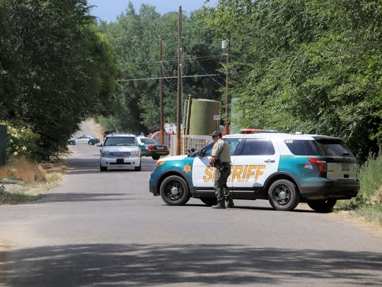 The San Juan County Sherif's Office blocked streets