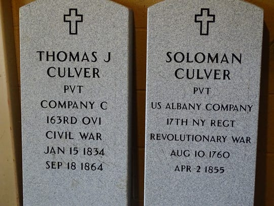 Two new grave markers will soon be installed and dedicated