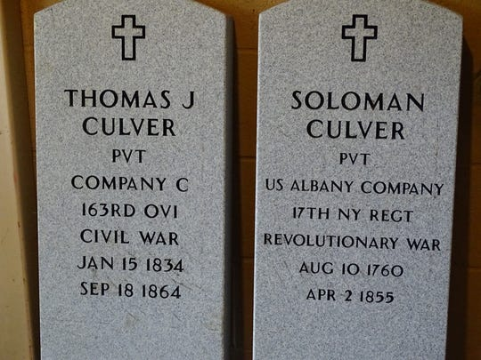 Two new grave markers will soon be installed and dedicated at Swisher cemetery in washington Township.