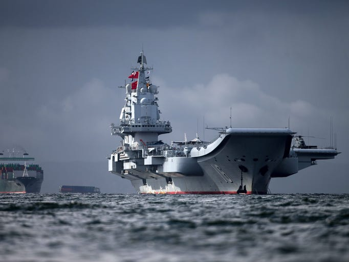 The Liaoning the first aircraft carrier commissioned