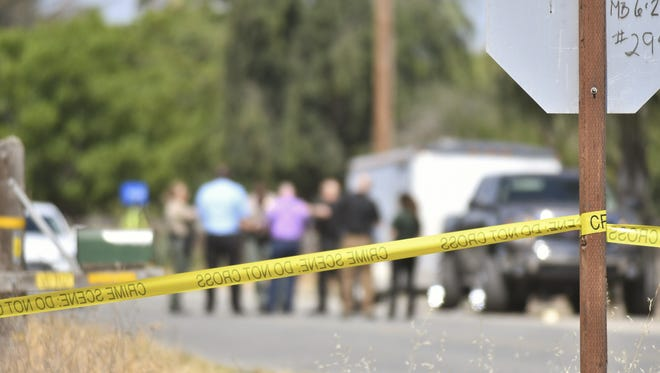 Tulare County sheriff's deputies are investigating a homicide near Road 140 and Avenue 288.