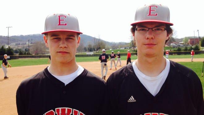 Erwin seniors Devon Harper, left, and Joshua Weaver