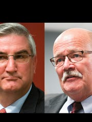 Eric Holcomb, (Rep) and John Gregg, (Dem) candidates for Indiana Governor