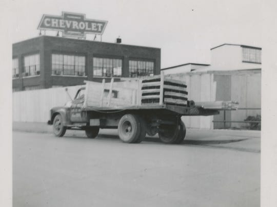 Muncie's Chevrolet plant in this undated photo.