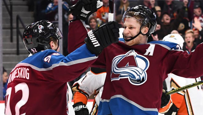 Colorado Avalanche center Nathan MacKinnon is in the Hart Trophy conversation.