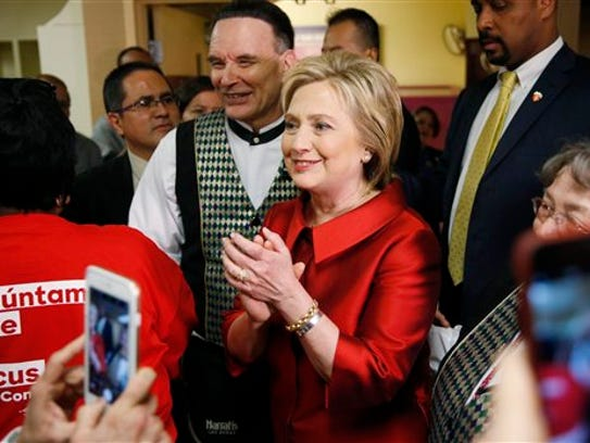 Democratic presidential candidate Hillary Clinton visits