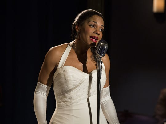 """In this image released by HBO, Audra McDonald appears in a scene from, """"Lady Day at Emerson's Bar & Grill."""" On Thursday, July 14, 2016, McDonald was nominated for outstanding actress in a limited series or movie for her role as Billie Holiday. The 68th Primetime Emmy Awards will be broadcast live on ABC beginning at 8 p.m. ET on ABC."""