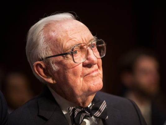 Former Supreme Court Justice John Paul Stevens Testifies To Senate Committee On Campaign Finance