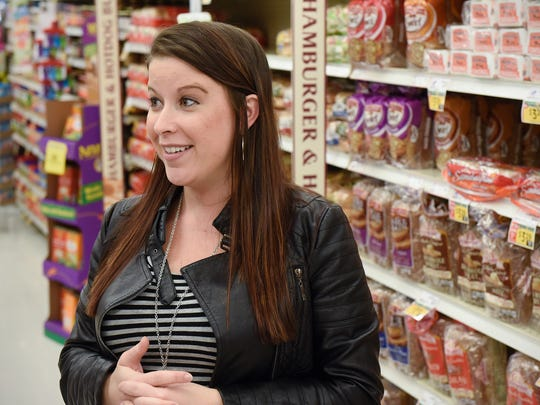 Lead dietician Ashley Kibutha talks about the process used to develop Coborn's new nutritional information program called Dietician's Choice Tuesday, Oct. 25 at the Coborn's Marketplace on Pinecone Road in Sartell.