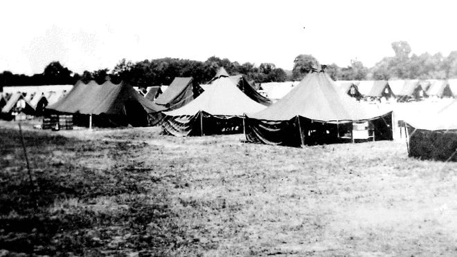 World War II prisoner of war camp in Blissfield. The camp housed about 500 German POWs from 1944 to 1946.