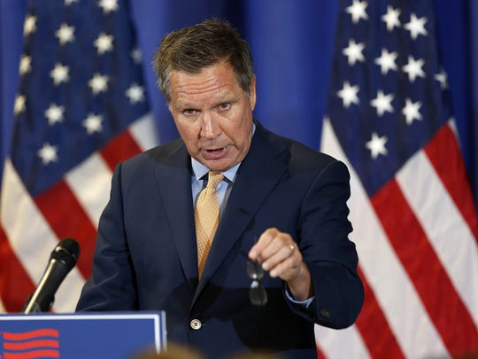 Kasich announces his federal budget plan Oct. 15 at