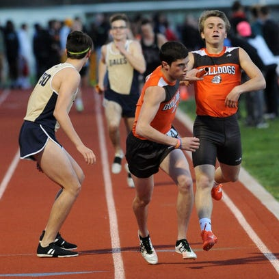 Heath's Chandler Wilhelm takes the baton from Chance