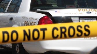 Indianapolis police investigate a crime scene.