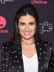 "Idina Menzel attends a screening of her remake of ""Beaches"" on Jan. 18, 2017, in New York City."