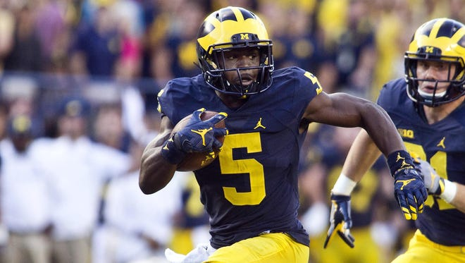 Michigan Wolverines do-it-all redshirt sophomore Jabrill Peppers.
