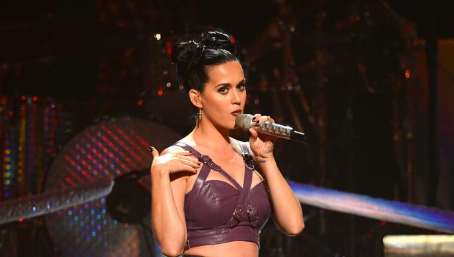 Katy Perry performs during the iHeartRadio Music Festival  in Las Vegas.