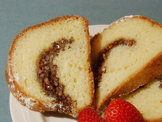 Yes, Sahm's famous coffee cake is on the menu at Sahm's
