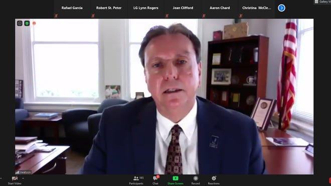 Kansas State Commissioner of Education Randy Watson speaks during the Kansas Health Institute's virtual discussion Tuesday on how to improve both education and health outcomes for Kansans.