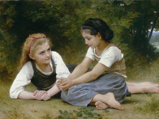 The Nut Gatherers, William Adolphe Bouguereau, 1882