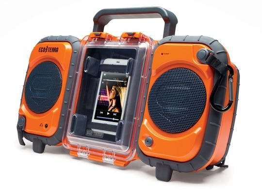 The ECOXGEAR Ecoterra Boombox is the perfect summer sound system since it's waterproof and floats on its own. (MCT)