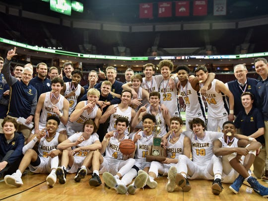 The 2018 Division 1 State Champions, Moeller Crusaders Saturday, March 24th at Value City Arena