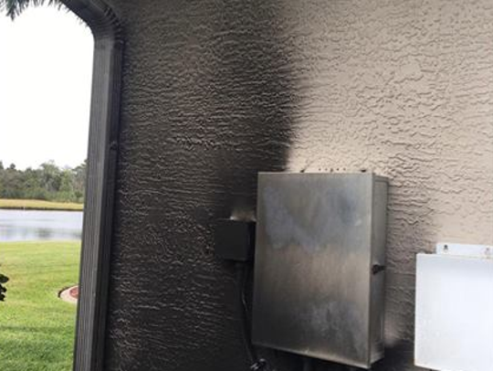 Deputy Vinnie Marino stopped a pool pump fire when