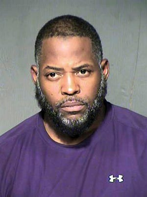 FILE - This undated file photo provided by the Maricopa County Sheriff's Department shows Abdul Malik Abdul Kareem. Sentencing is set Wednesday, Feb. 8, 2017, for the American-born Muslim convert convicted of helping to plot a 2015 attack on a Prophet Muhammad cartoon contest in Texas. Kareem also will be sentenced on his conviction for supporting the Islamic State group.