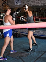 The boxing workouts have gone co-ed as Vero Beach High