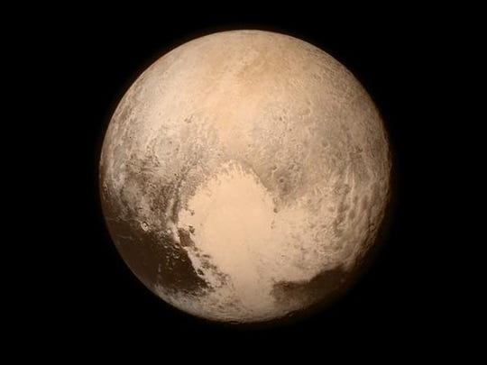 Pluto, seen from the New Horizons spacecraft.