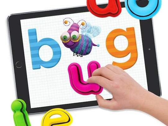 Tiggly Words aims to make learning fun by combining toy shapes and letters with apps for iPads or Android tablets.