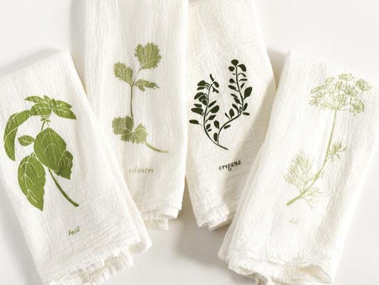 June and december napkin set Garden_Herb_Flavors_Cloth_Napkin_Set_Flour_Sack_Cot