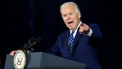 Vice President Joe Biden delivers remarks during a
