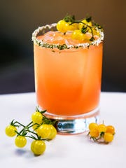 This is the tomato-melon margarita at Quiessence at
