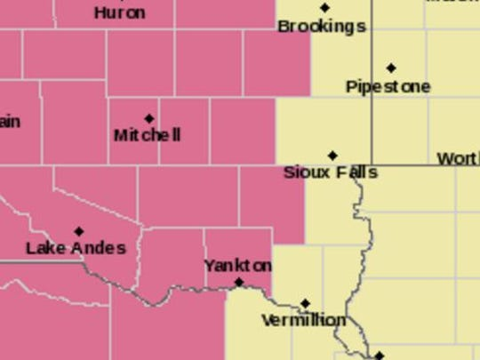 Area under severe thunderstorm watch until 3 am.