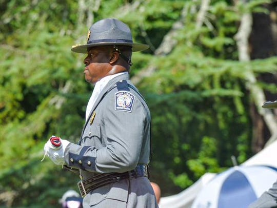 A member of the South Carolina Highway Patrol Honor