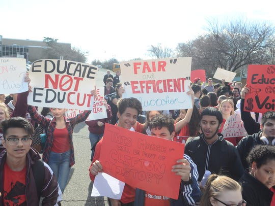 More than 300 Clifton High School students marched