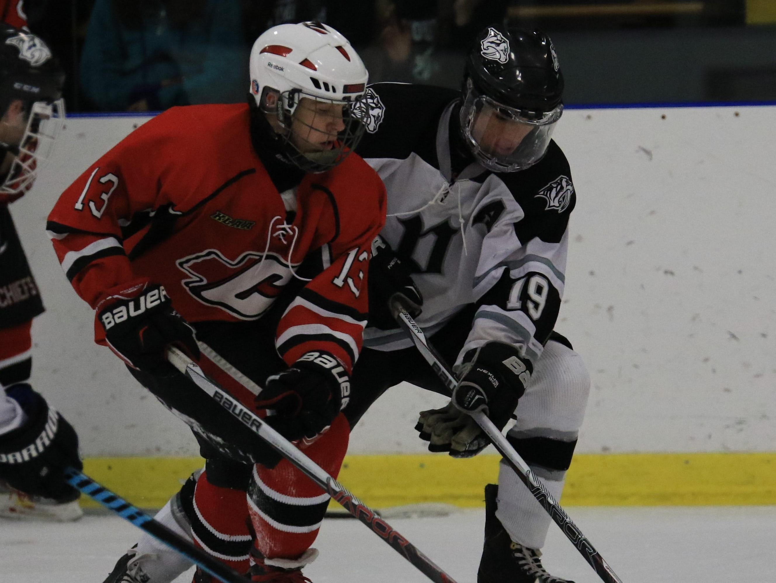There are several promising sophomores on the Canton roster, including forward Daniel Bourgeois (No. 13).