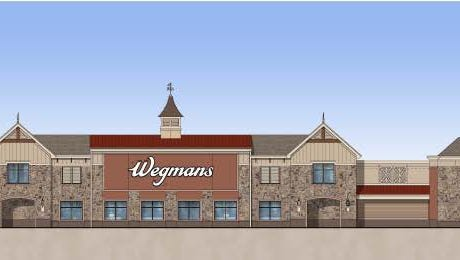 A rendering of the 125,000-square-foot Wegmans Food Market scheduled to open next spring in Hanover.