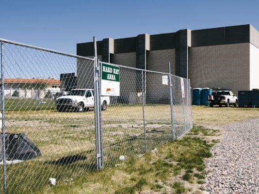 Construction on the Brancheau P.E. Complex on the Western New Mexico University campus was continuing on Monday.